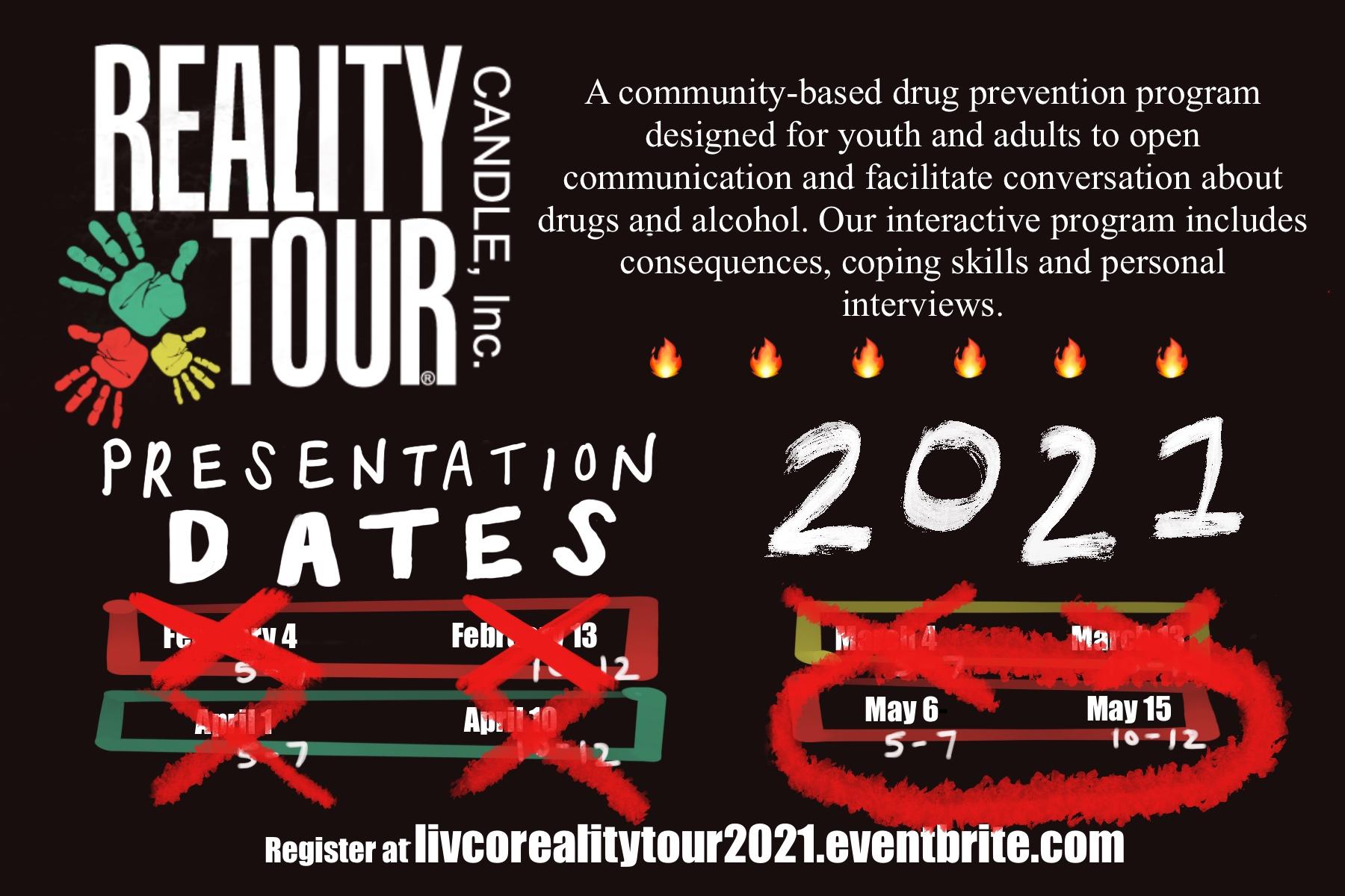 Reality Tour Flyer